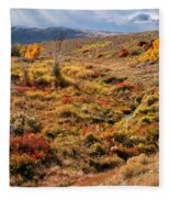 East Of Crowheart Fleece Blanket