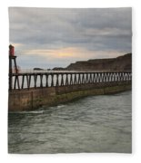East Pier Whitby Fleece Blanket