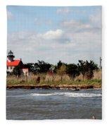 East Point Lighthouse II Fleece Blanket