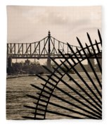 East River View Fleece Blanket