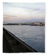 East River Vista 1 - Nyc Fleece Blanket