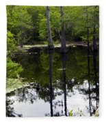 East Texas Cyprus Pond Fleece Blanket
