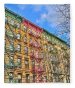 East Village Buildings On East Fourth Street And Bowery Fleece Blanket