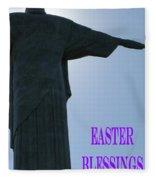 Easter Blessings Card Fleece Blanket