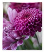 Easter Bouquet Flowers Mums And Dahlia Fleece Blanket