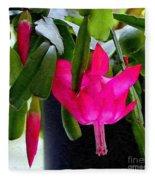 Easter Cactus Digtial Painting Square Fleece Blanket