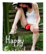 Easter Card 5 Fleece Blanket
