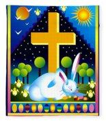Easter Card Fleece Blanket