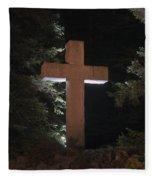 Easter Cross Fleece Blanket