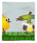 Easter Egg - Disagreeable Surprise Fleece Blanket
