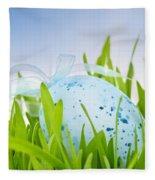 Easter Egg In Grass Fleece Blanket