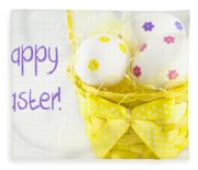 Easter Eggs In Basket Fleece Blanket