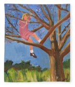 Easter In The Apple Tree Fleece Blanket