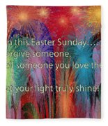 Easter Inspiring Digital Painting Fleece Blanket