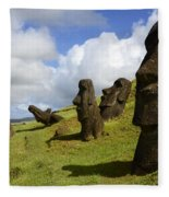Easter Island 1 Fleece Blanket