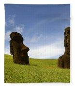 Easter Island 10 Fleece Blanket