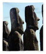 Easter Island 11 Fleece Blanket