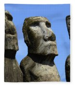 Easter Island 16 Fleece Blanket
