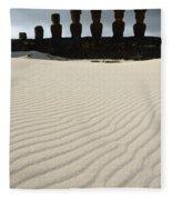 Easter Island 8 Fleece Blanket