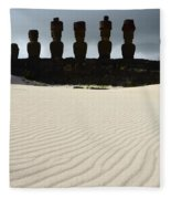 Easter Island 9 Fleece Blanket