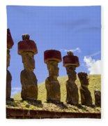 Easter Island Statues  Fleece Blanket