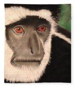 Eastern Colobus Monkey Fleece Blanket