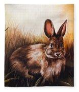 Eastern Cottontail Rabbit Fleece Blanket