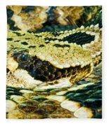 Eastern Diamondback Rattlesnake Fleece Blanket
