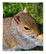Eastern Grey Squirrel Fleece Blanket