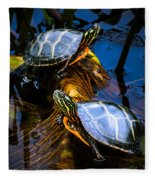 Eastern Painted Turtles Fleece Blanket