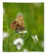 Eastern Pine Elfin Butterfly Fleece Blanket