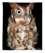 Eastern Screech Owl Fleece Blanket