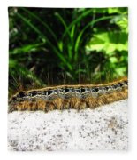 Eastern Tent Caterpillar Fleece Blanket