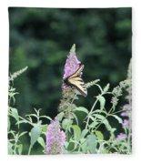 Eastern Tiger Swallowtail Butterfly -  Featured In Wildlife Group Fleece Blanket