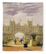 Eastern View Of The Castle And Garden Fleece Blanket