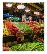 Eat Your Fruits And Vegetables Fleece Blanket