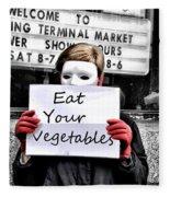 Eat Your Vegetables Fleece Blanket