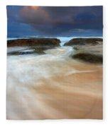 Ebb Tide Sunrise Fleece Blanket