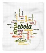 Ebola Fleece Blanket