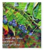 Ecclesiastes 9 1 Fleece Blanket
