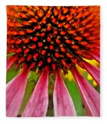 Echinacea Flower Upclose Filtered Fleece Blanket