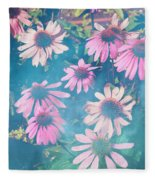 Echinacea Flowers Fleece Blanket