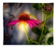 Echinacea Sunrise Fleece Blanket