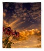 Echinacea Sunset Fleece Blanket