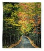 Echo Lake Road Fleece Blanket