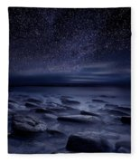 Echoes Of The Unknown Fleece Blanket by Jorge Maia