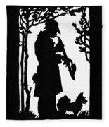 Eckstein Man And Dog Fleece Blanket