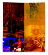 Eclectic Things Collage Fleece Blanket