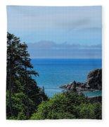 Ecola State Park Overlook  Fleece Blanket