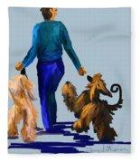 Eddie Dancing With Dogs Fleece Blanket